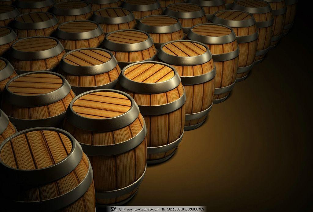 葡萄酒木桶高清图片
