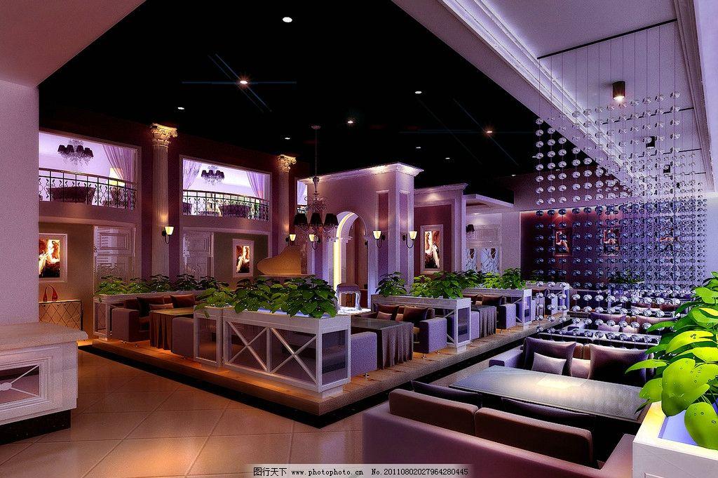 西餐厅荧光屏设计图展示
