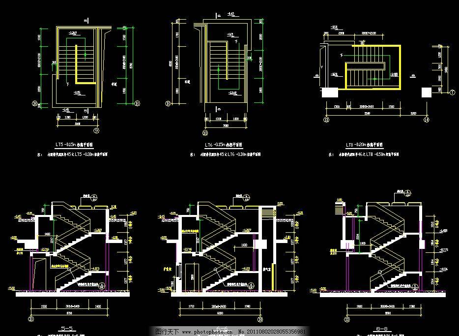 商场柜台装修平面图及电路图