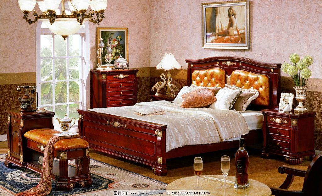 新古典家具 欧式家具 温馨家具 套房系列 红酒 吊灯 洋酒 酒杯 饰品