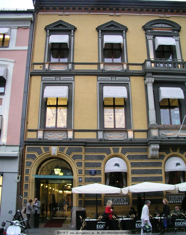 欧式建筑外观 外观拍摄 商场 街道 商场入口 门头 欧式门头 酒店设计