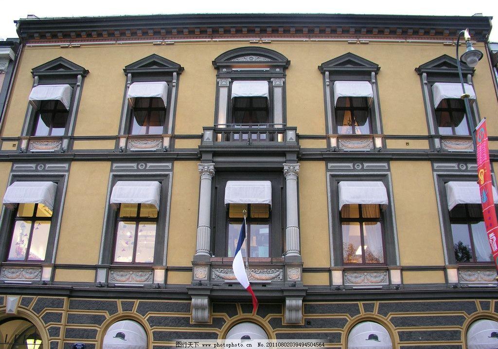 欧式建筑 建筑设计 旅游拍摄 古建筑 窗户 城堡 石墙 罗马柱