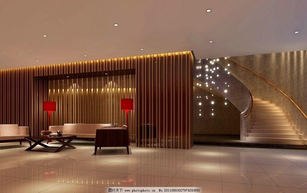 酒店大厅效果图 门厅 接待 包房 房间 客房 装饰 装修 灯光
