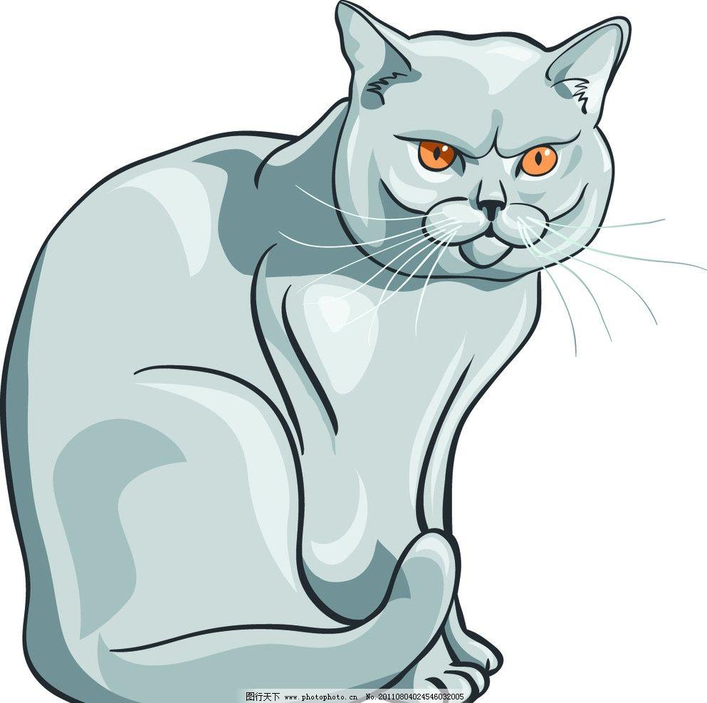 素描猫 手绘动物 手绘 线描 猫咪 素描 猫 手绘猫 矢量 eps 家禽家畜