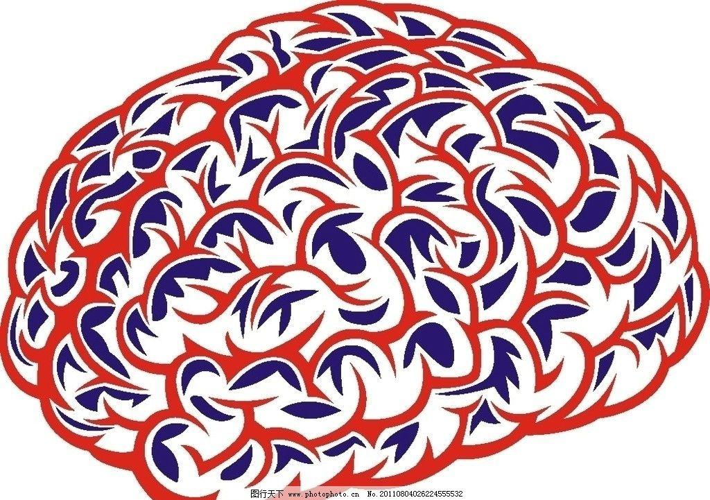 脑子 头脑 医疗保健 生活百科 矢量 cdr