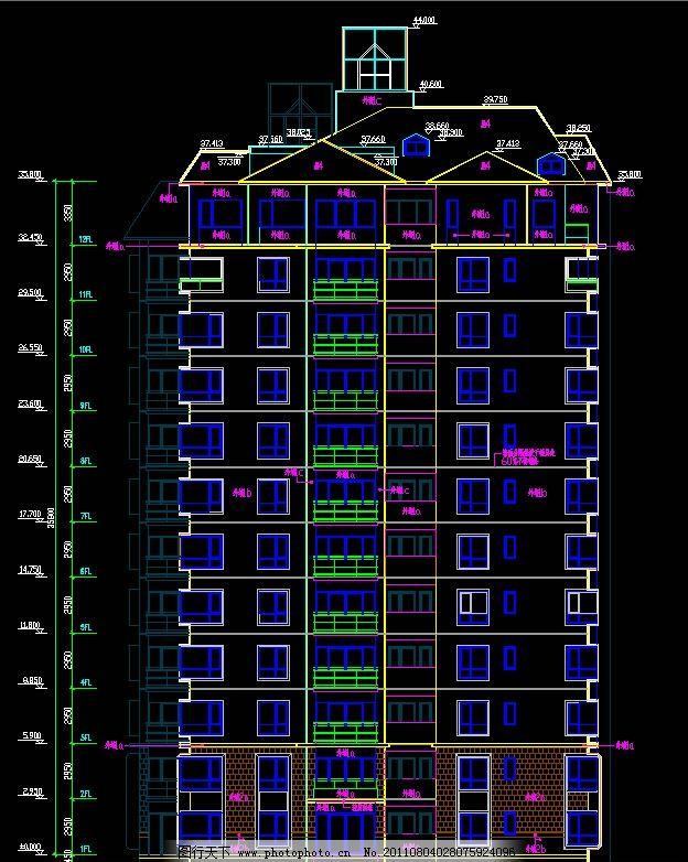 住宅楼立面图图片