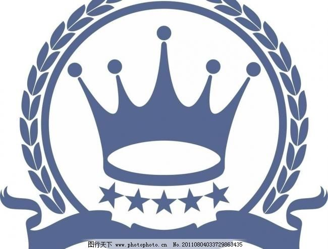 皇冠logo 标识标志图标 稻穗 丝带 矢量
