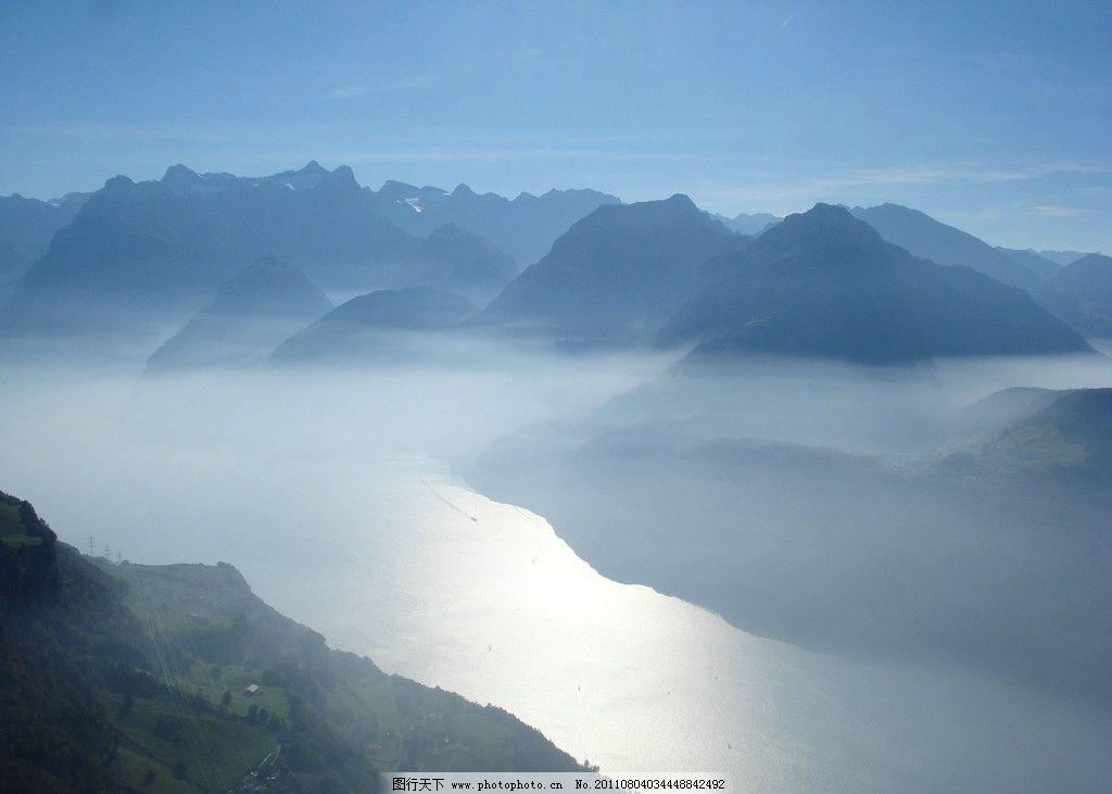云雾缭绕的山 山 云雾 山水 山水风景 自然景观 摄影 72dpi jpg