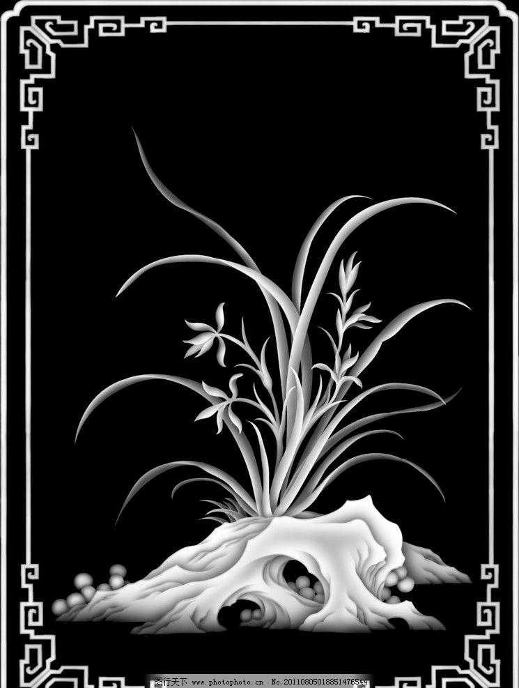兰花 灰度图/灰度图兰花图片