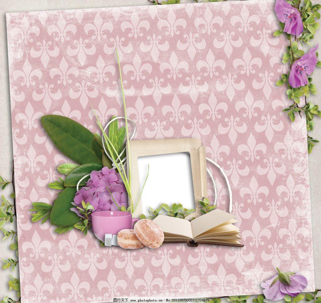 底片模板 底纹 底纹边框 儿童模板 儿童相框 花朵 花朵秒包书本想看