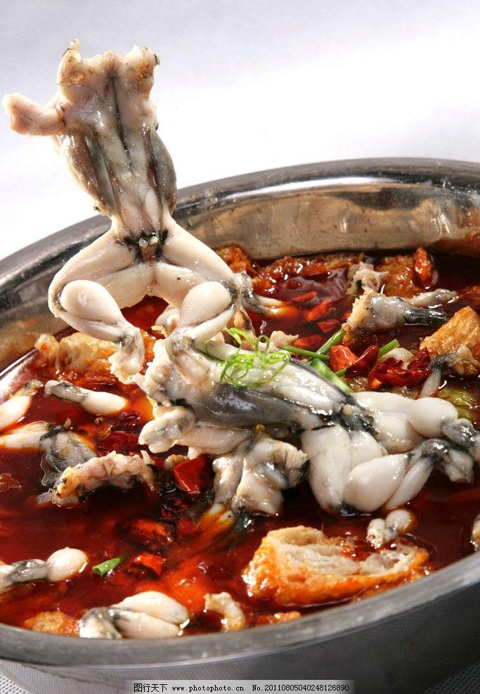 跳水田鸡 川菜 拍摄 辣椒 汤 酒店做菜谱 传统美食 餐饮美食