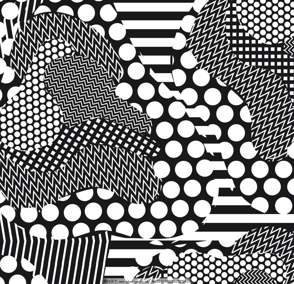 圆点 几何图形 条纹线条 花纹 边框 纹理 时尚花纹 底纹 方格 灰色
