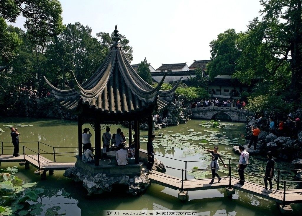 江苏苏州园林狮子林藕园图片