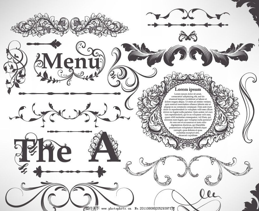 古典欧式花纹花边框装饰 字母设计 字母 边框 相框 古典花纹 古典花边 欧式花纹 欧式花边 手绘 线条 装饰 设计 时尚 潮流 梦幻 浪漫 古典 欧式 花纹 花边 背景 底纹 矢量 条纹线条 底纹边框 EPS