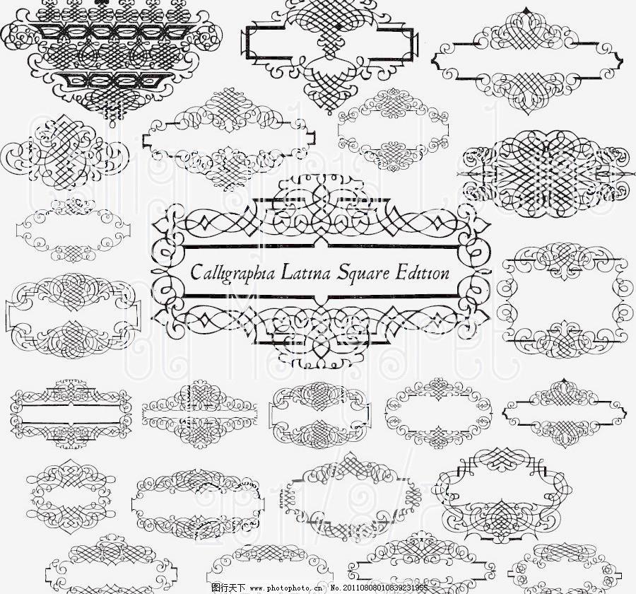 富贵 高雅 宫廷 古典 贵族 欧式华丽边框设计矢量素材 欧式华丽边框