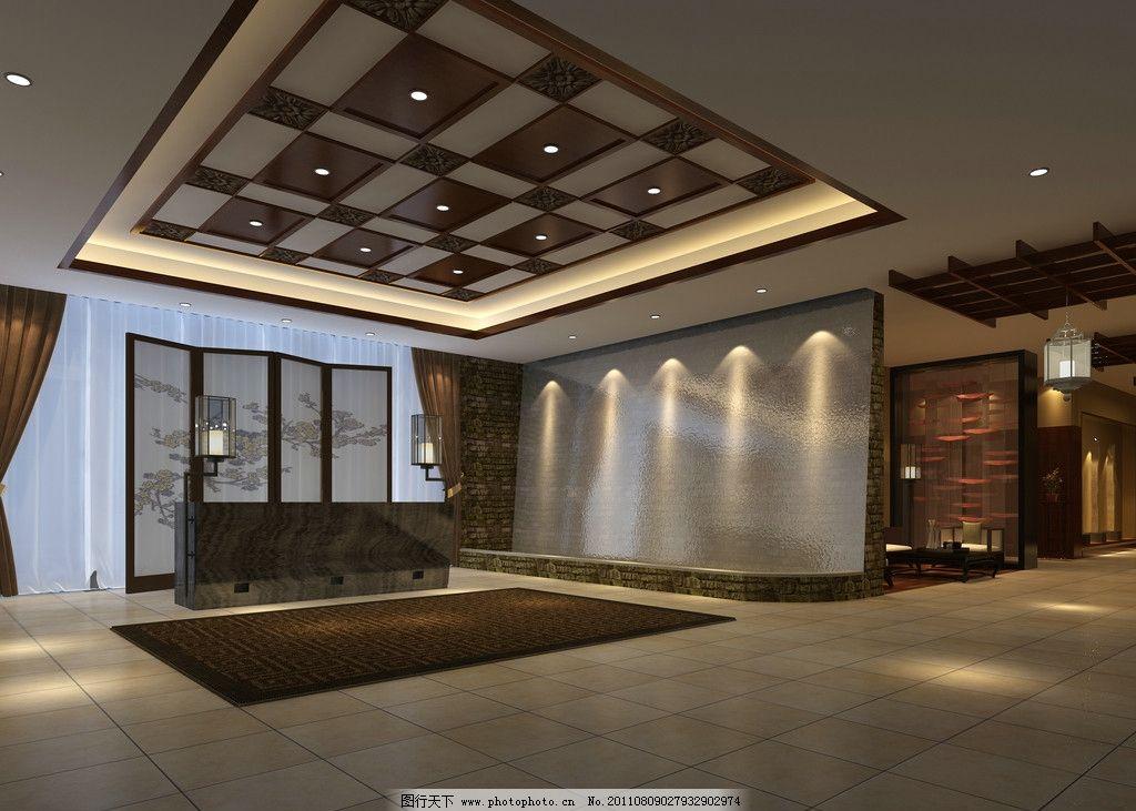 酒店门厅效果图图片
