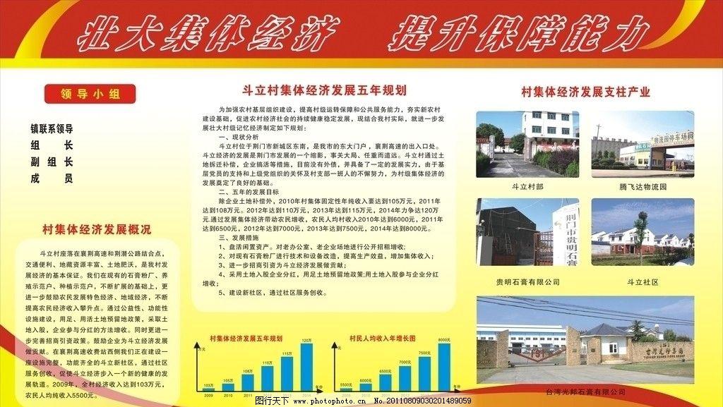 农村党建展板 壮大集体经济 提升保障能力 集体经济 村级组织 社区