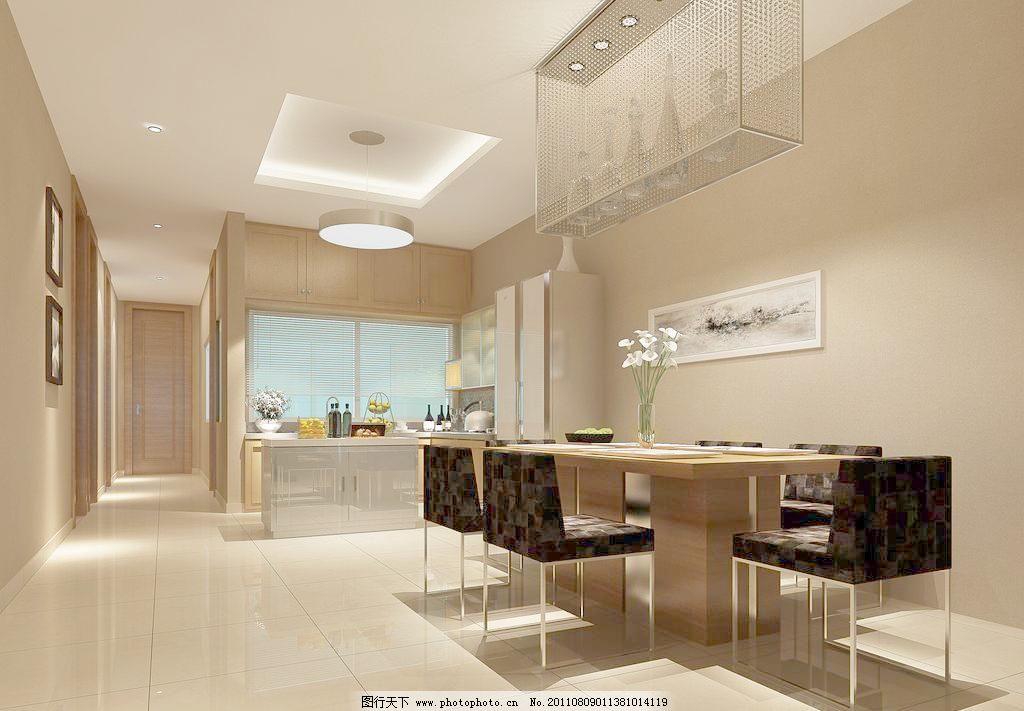 壁画 别墅设计 冰箱 餐盘 餐厅 餐厅效果图 餐桌 铲子 抽象画      厨