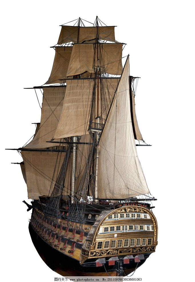 古代战船 战船 航海 大帆船 帆船 战舰 铁甲帆船 风帆 交通工具 现代