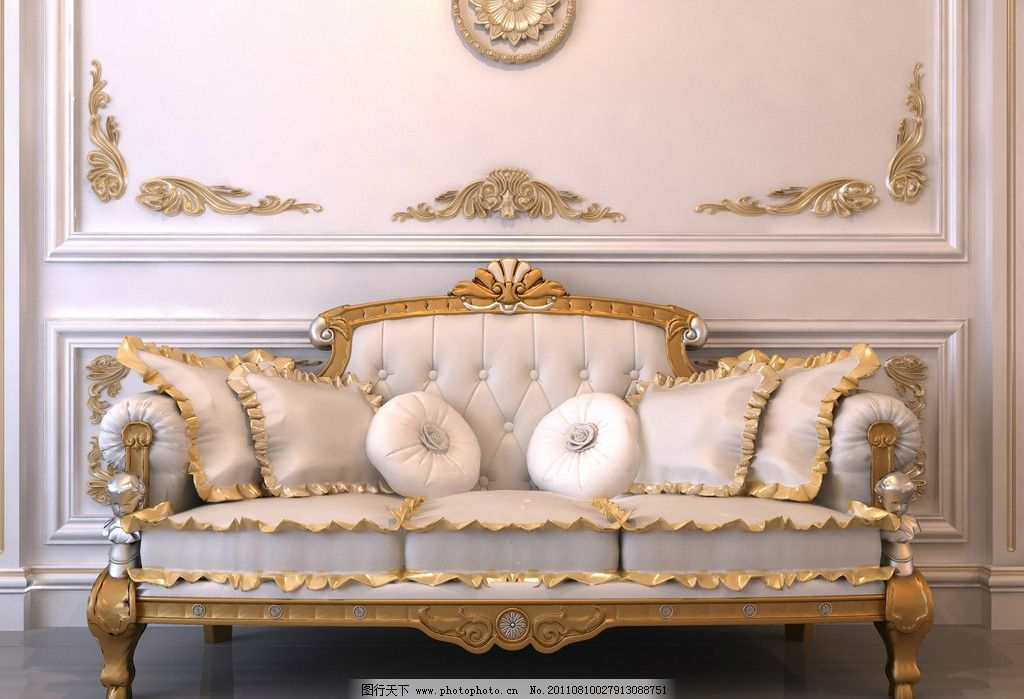 欧式沙发图片_室内设计