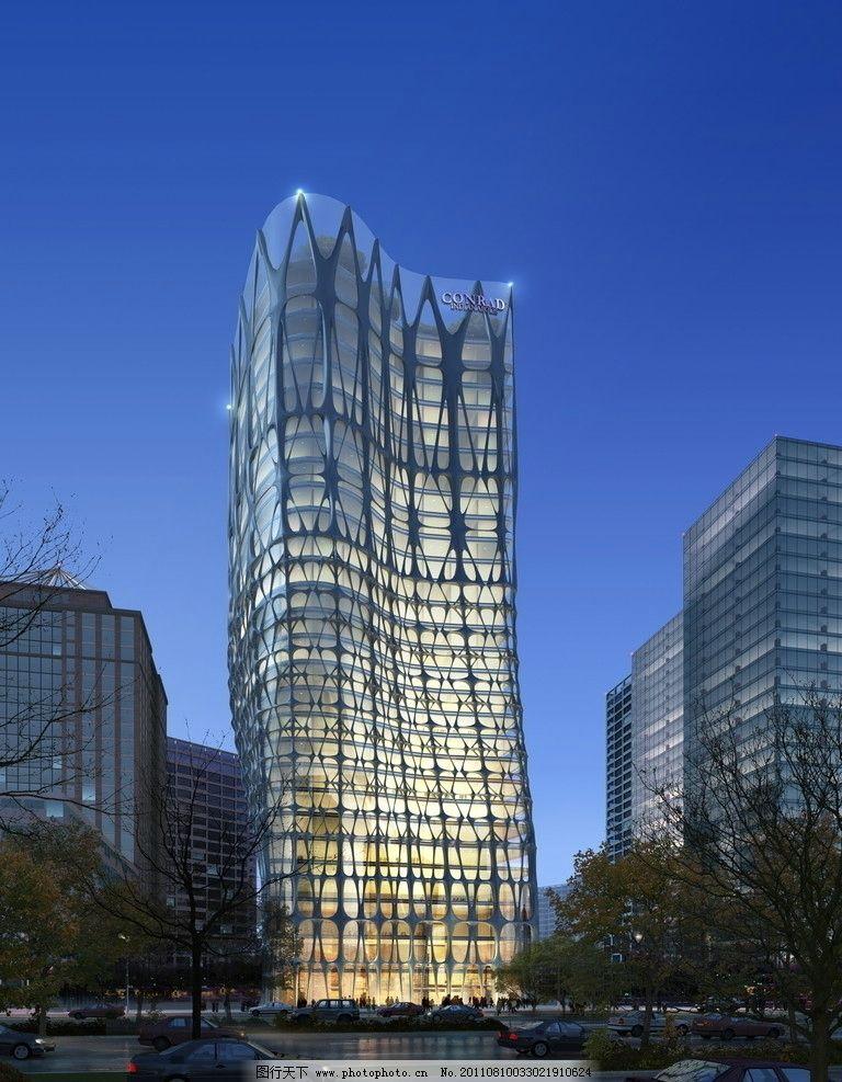 建筑景观效果图 效果图 城市建筑 效果图表现 鸟瞰效果图 写字楼 公共