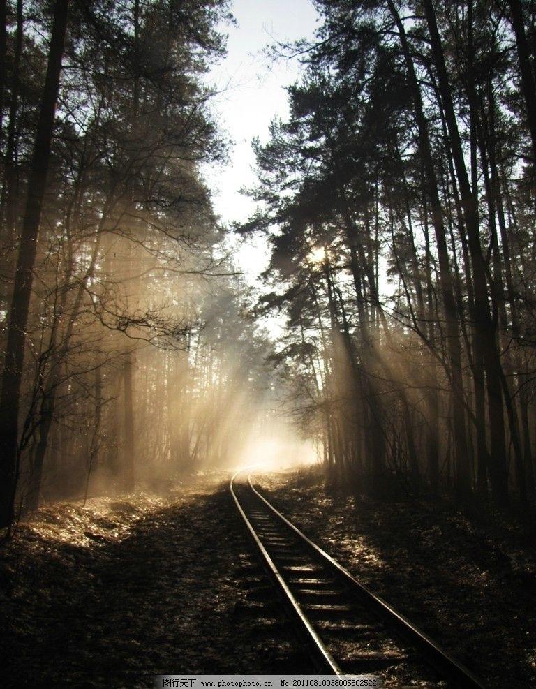 铁轨 车轨 轨道 道路交通 铁道 铁路图片 铁轨素材 交通工具 现代科技