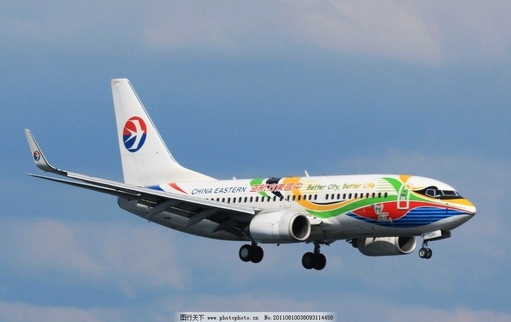中国东方航空 飞机 航空公司 世博涂装 飞机 交通工具 现代科技 摄影