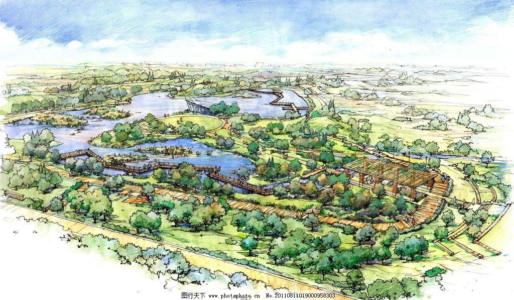 风景区规划 手绘 马克笔 绘画书法 文化艺术