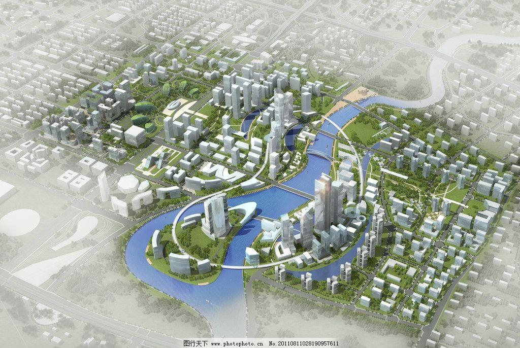 某城市滨水规划设计图片