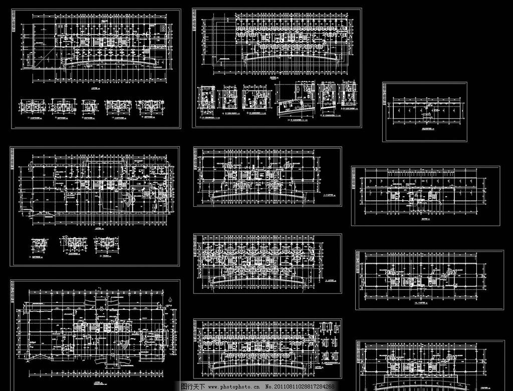 五星级酒店平面图 五星酒店 室内设计 家装 工装 建筑 装修图