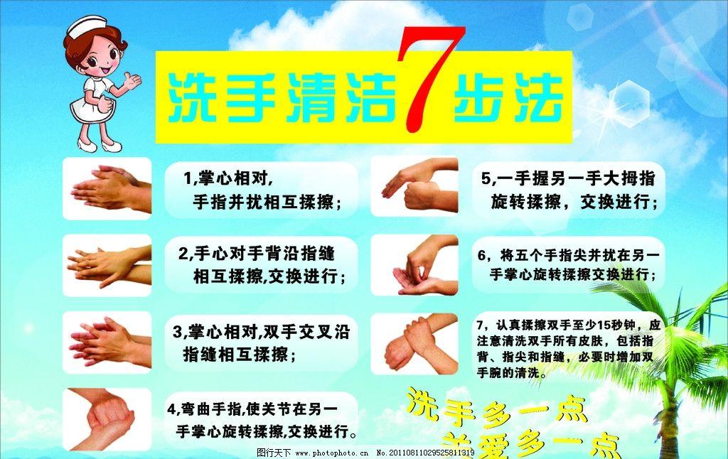 洗手七步法图片