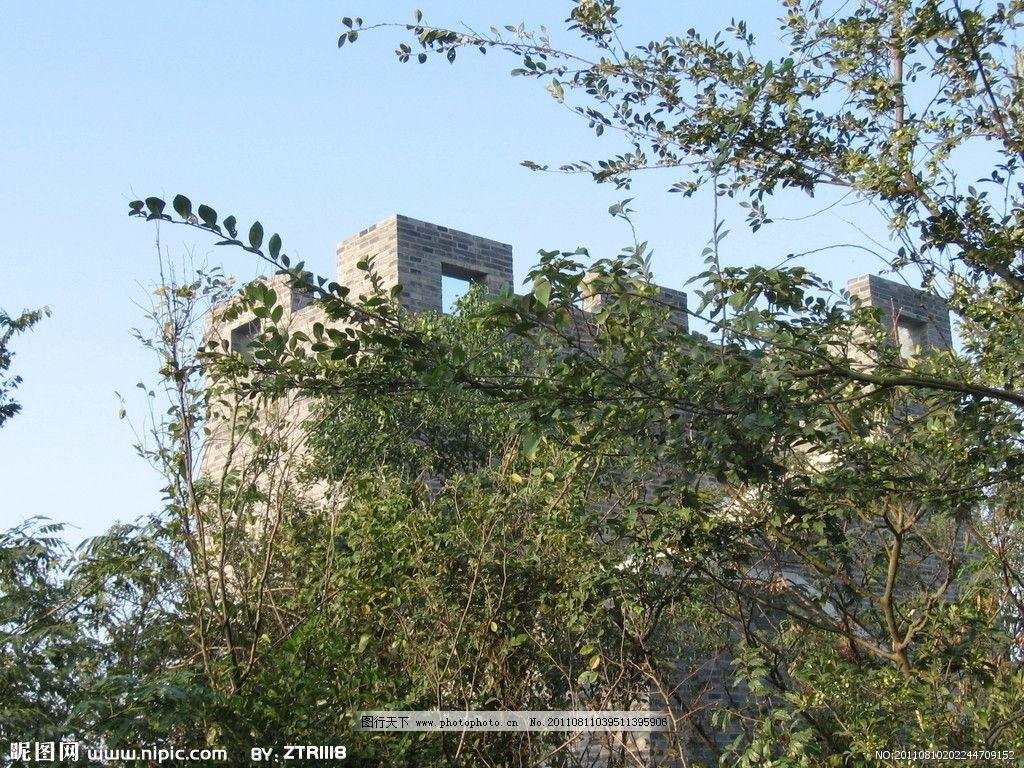 香山烽火台 苏州 香山 香山风景区 树林 天空 烽火台 城楼 园林建筑
