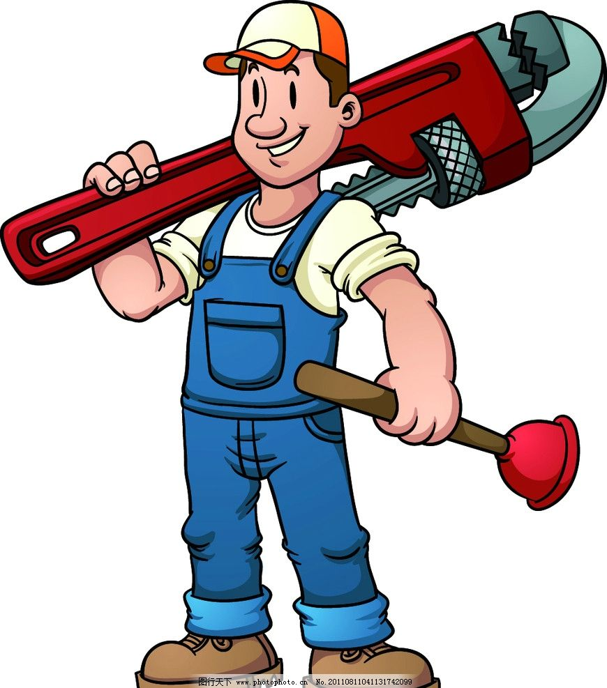 维修工人 卡通职业人物