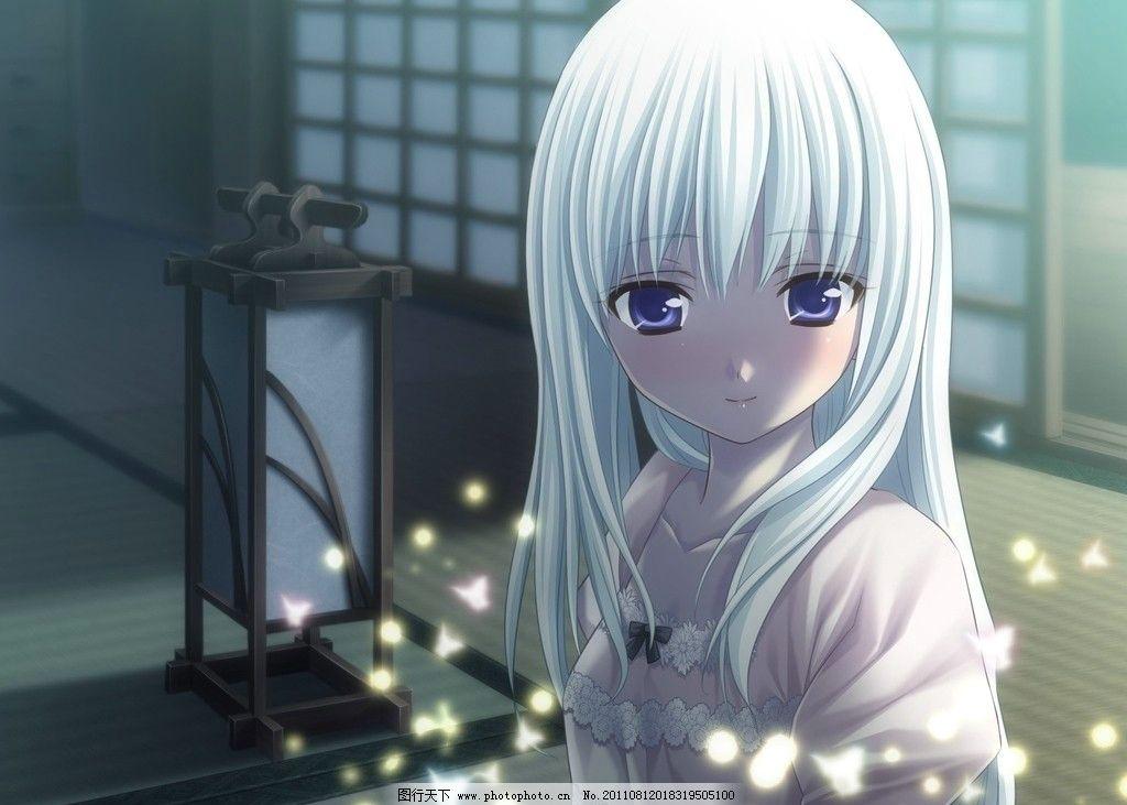白发女孩 白发 女孩 可爱 纯真 灵异 日本 动漫人物 动漫动画 设计 72