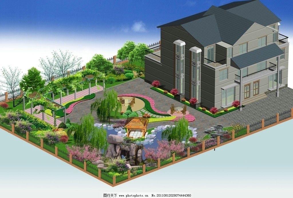 花园别墅设计图图片