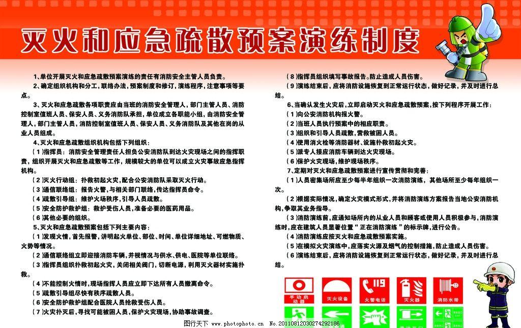 灭火和应急疏散预案演练制度