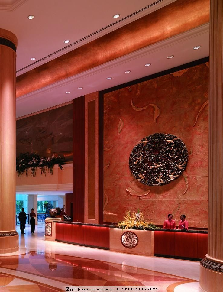 花格酒店吧台装修效果图