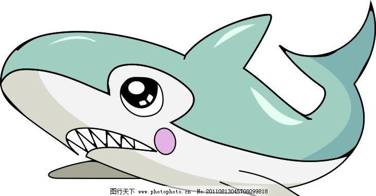 卡通矢量鲨鱼 卡通 矢量 鲨鱼 可爱 海洋生物 生物世界 cdr