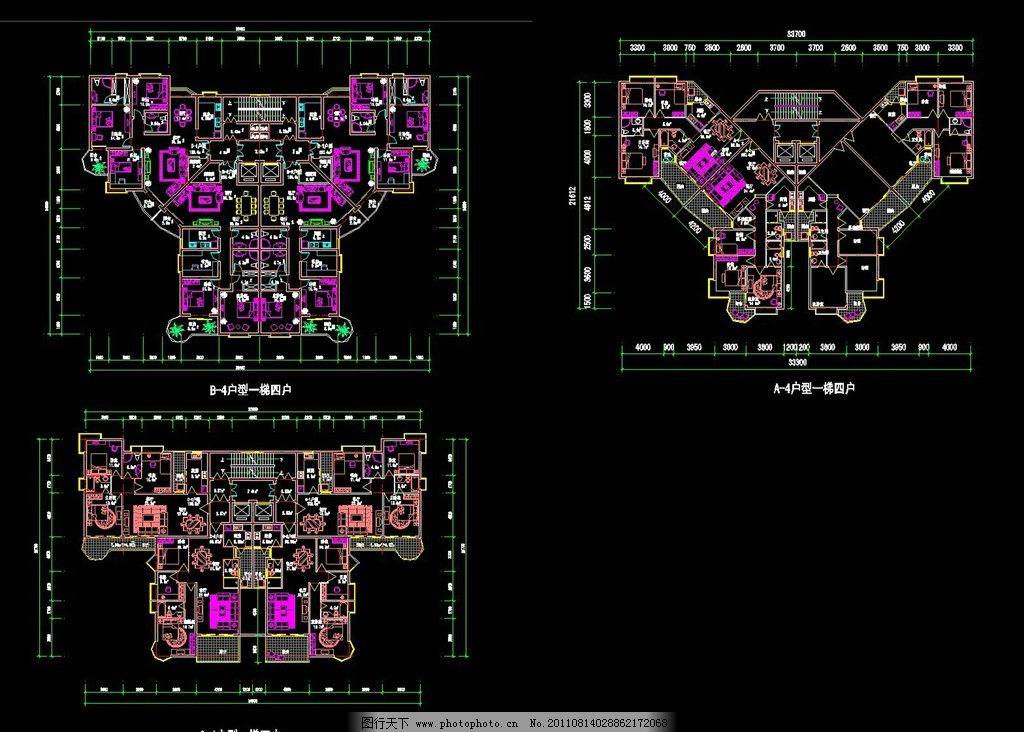 住宅平面图 住宅 平面图 室内设计 装修图 布置图 cad 施工图纸 cad