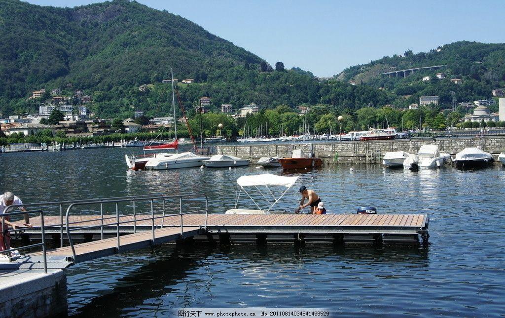 游船 水 湖水 山 蓝天 旅游 国外 船只 风景 国内旅游 旅游摄影 摄影