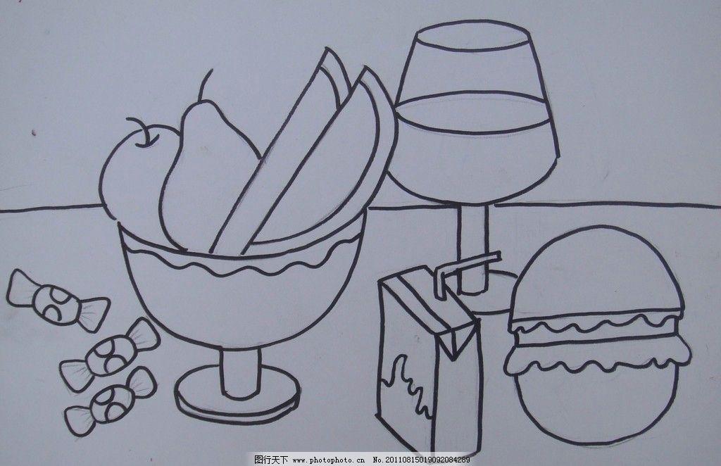 西瓜简笔画图片大全可爱图片
