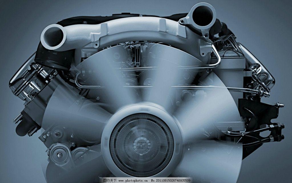 发动机特写 涡轮 排气扇 齿轮 汽车 机械 零件 汽车部件 动力