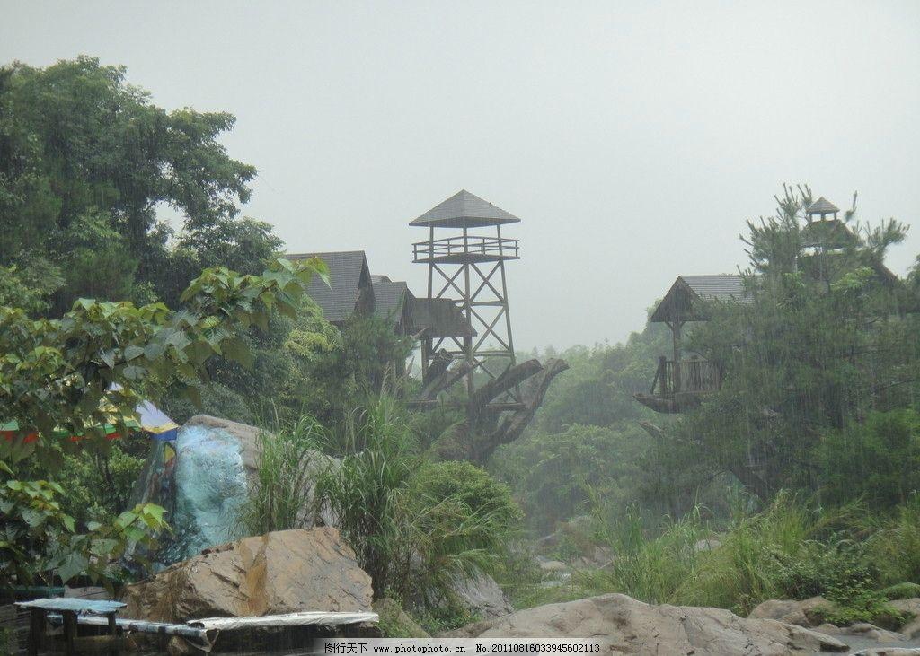 观景台 广东省 增城 木屋 石头 绿树 国内旅游 旅游摄影 摄影 72dpi