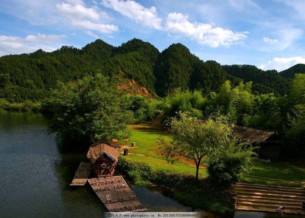 江西婺源彩虹桥 风景 旅游 摄影 景区 景点 树木 流水 静湖