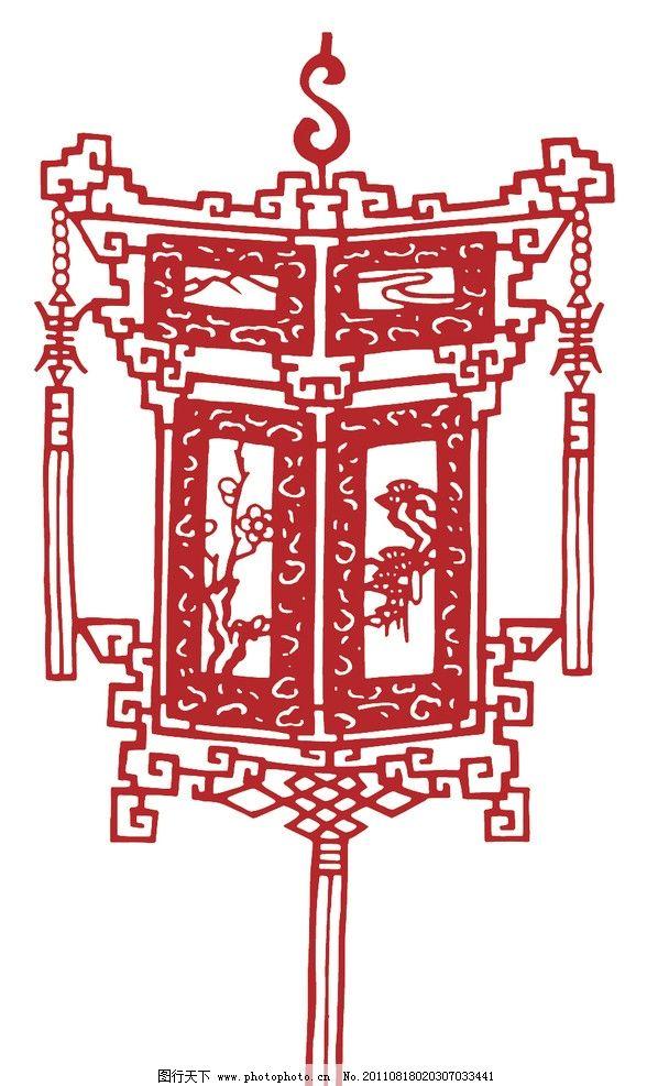 中国红素材 中国红 灯笼 花灯 小花 中国结 传统 花纹 图案 古典 中国