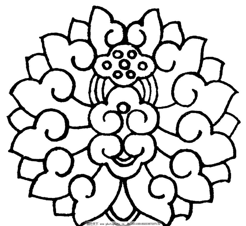 中国传统花纹 矢量图形 花纹 佛教 花朵 传统 经典 图案 中国图案