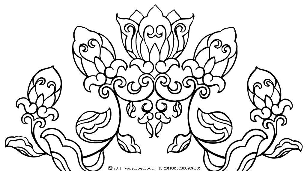 底纹边框 花边花纹  中国传统花纹 矢量图形 小花 花纹 传统 对称图形