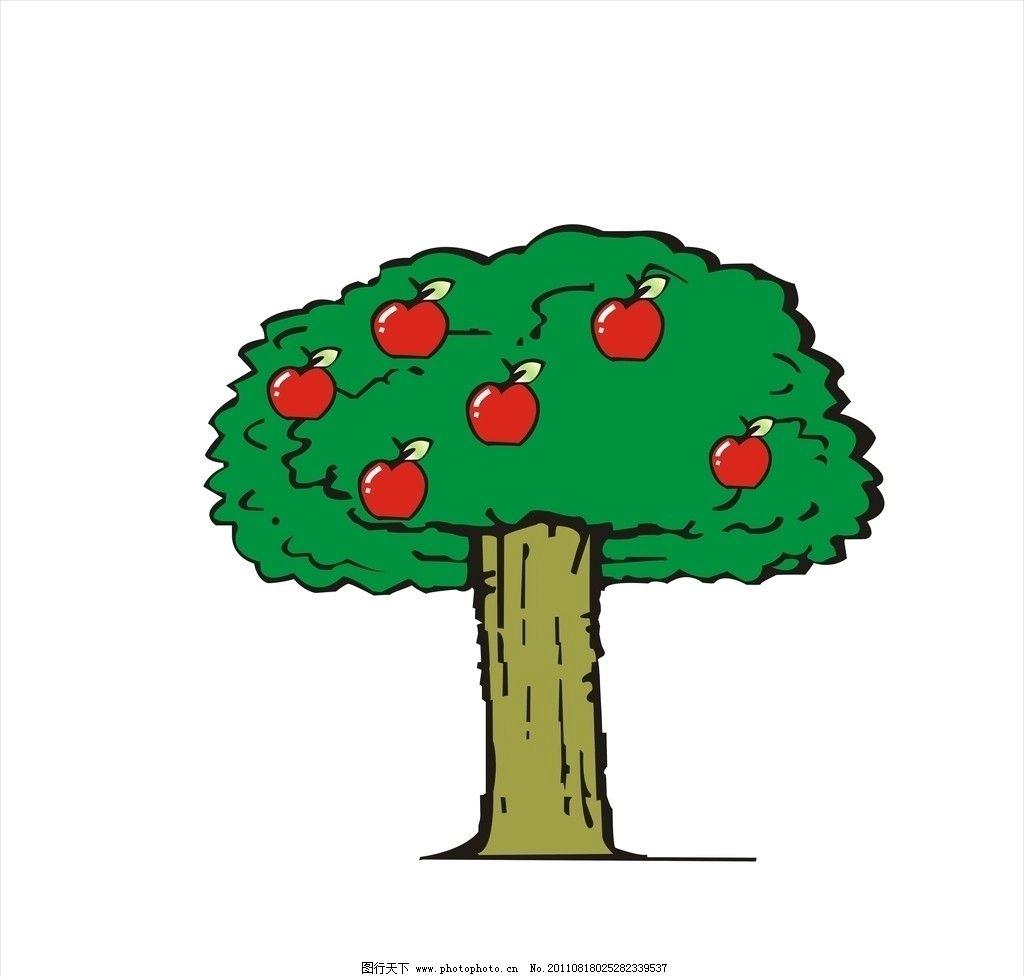 人生树 树 手画苹果 绿叶 其他设计 广告设计 矢量 cdr