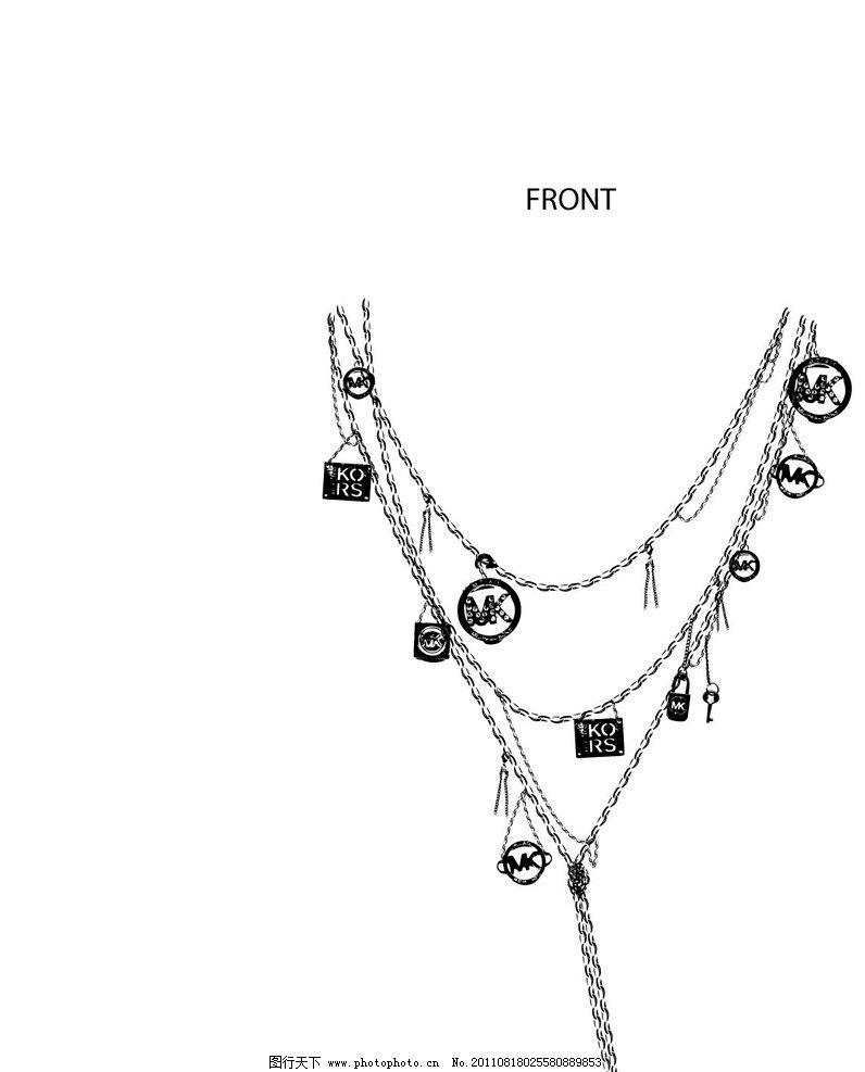 项链一系列设计图