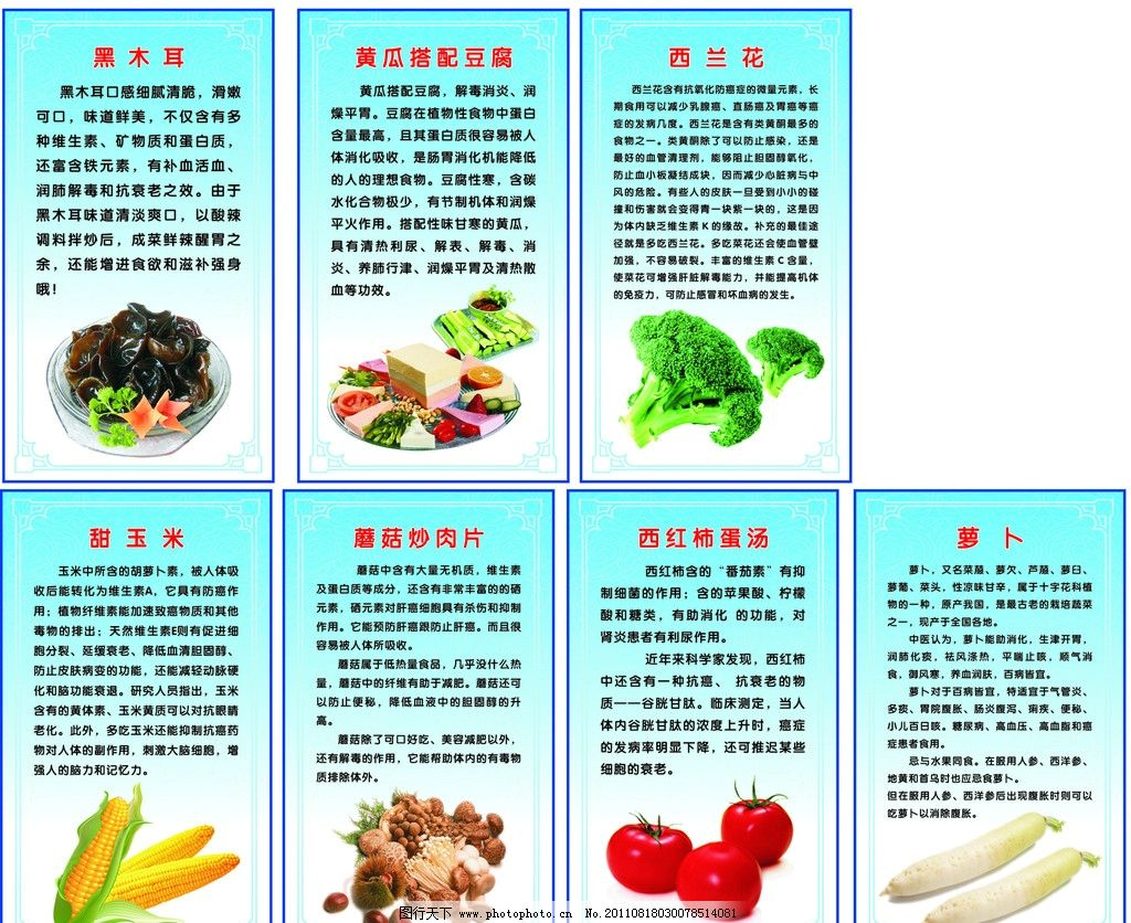 蔬菜 水果 营养图片